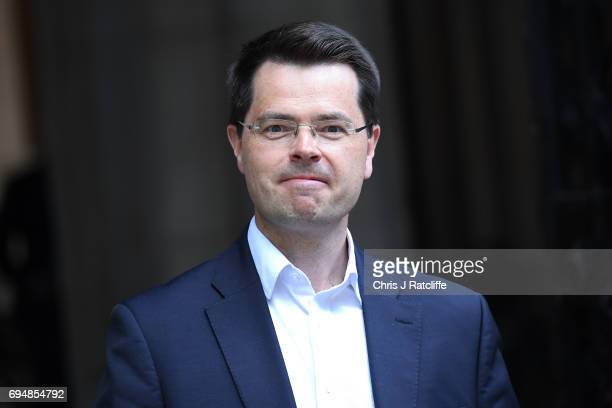 James Brokenshire Northern Ireland Secretary arrives at 10 Downing Street on June 11 2017 in London England Prime Minister Theresa May Reshuffles her...