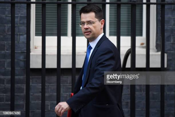 James Brokenshire UK communities secretary arrives for a weekly meeting of cabinet ministers at number 10 Downing Street in London UK on Tuesday Nov...