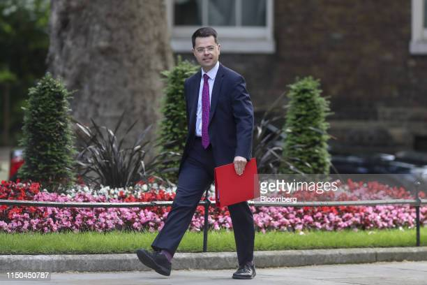James Brokenshire UK communities secretary arrives for a weekly meeting of cabinet ministers at number 10 Downing Street in London UK on Tuesday June...