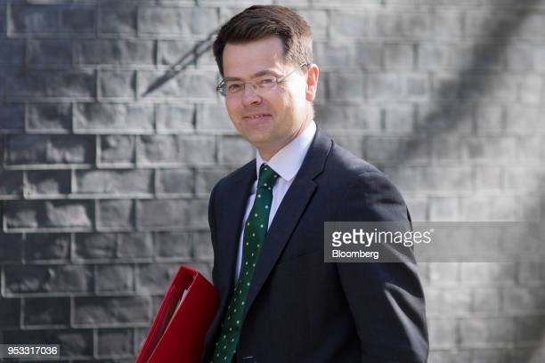 James Brokenshire UK communities secretary arrives for a weekly meeting of cabinet ministers at number 10 Downing Street in London UK on Tuesday May...