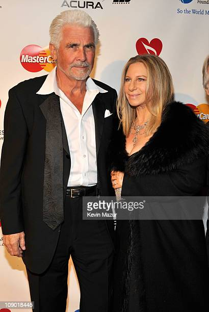 James Brolin and Barbra Streisand arrive at 2011 MusiCares Person of the Year Tribute to Barbra Streisand at Los Angeles Convention Center on...