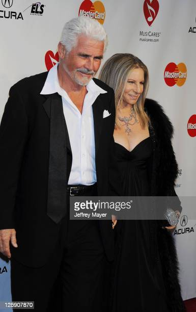 James Brolin and Barbra Streisand arrive at the 2011 MusiCares Person Of the Year Honoring Barbra Streisand at Los Angeles Convention Center on...