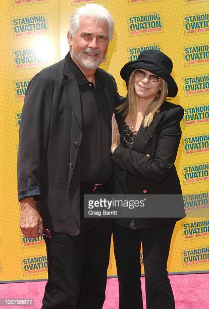 "James Brolin and Barbra Streisand arrive at the ""Standing Ovation"" Los Angeles Premiere at Universal CityWalk on July 10, 2010 in Universal City,..."