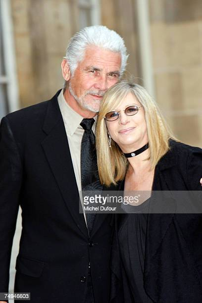 James Brolin and Barbra Streisand attend a formal ceremony at the Elysee Palace honoring Barbara Streisand with an induction into France's Legion of...
