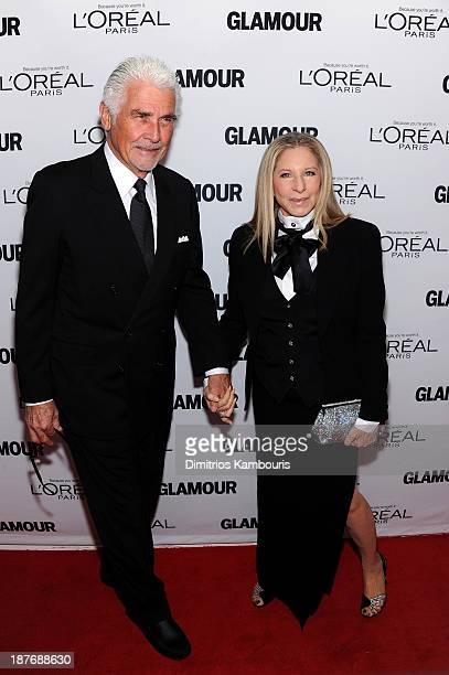 James Brolin and Barbra Streisand attend Glamour's 23rd annual Women of the Year awards on November 11 2013 in New York City