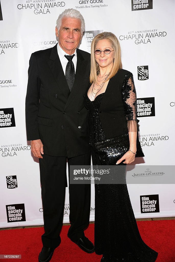 James Brolin (L) and Barbra Streisand attend the 40th Anniversary Chaplin Award Gala at Avery Fisher Hall at Lincoln Center for the Performing Arts on April 22, 2013 in New York City.