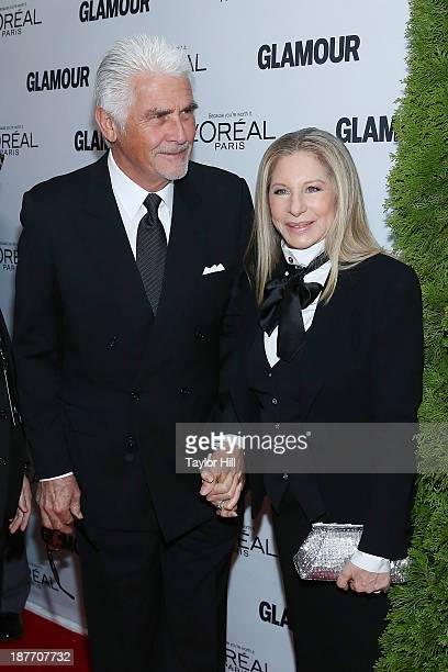 James Brolin and Barbra Streisand attend the Glamour Magazine 23rd annual Women Of The Year gala on November 11 2013 in New York United States
