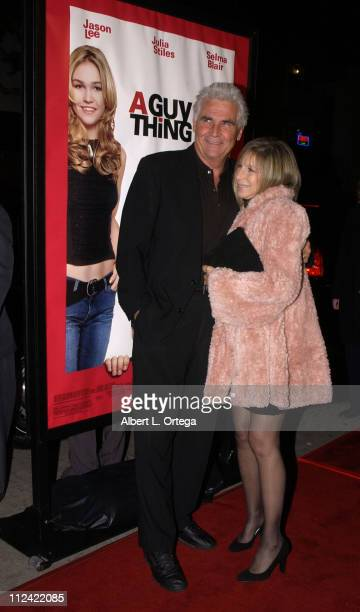 "James Brolin and Barbra Streisand during ""A Guy Thing"" Premiere at Mann's Bruin Theater in Westwood, California, United States."