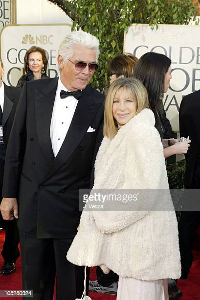 James Brolin and Barbra Streisand during The 61st Annual Golden Globe Awards - Arrivals at The Beverly Hilton in Beverly Hills, California, United...