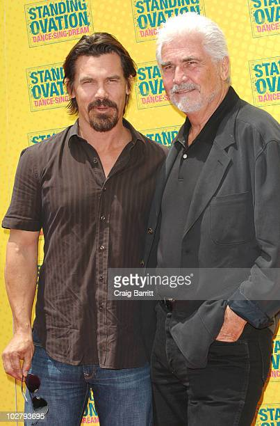 "James Brolin and his son Josh Brolin arrive at the ""Standing Ovation"" Los Angeles Premiere at Universal CityWalk on July 10, 2010 in Universal City,..."