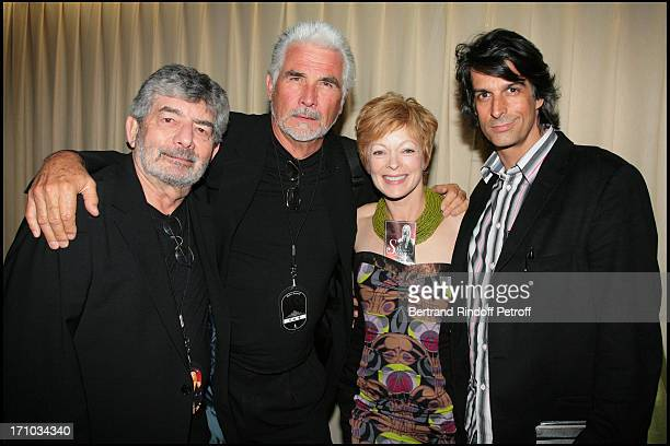 James Brolin the husband of Barbra Streisand and Frances Fisher First concert of Barbra Streisand at Bercy in France
