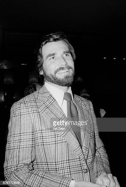 James Brolin wearing a plaid sports jacket; circa 1970; New York.