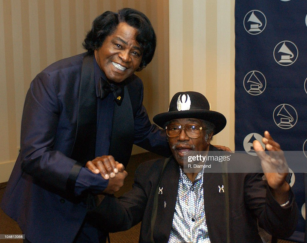 James Brown and Bo Diddley during The Recording Academy presents The 2003 Atlanta Heroes Awards at Westin Peachtree Plaza in Atlanta, Georgia, United States.