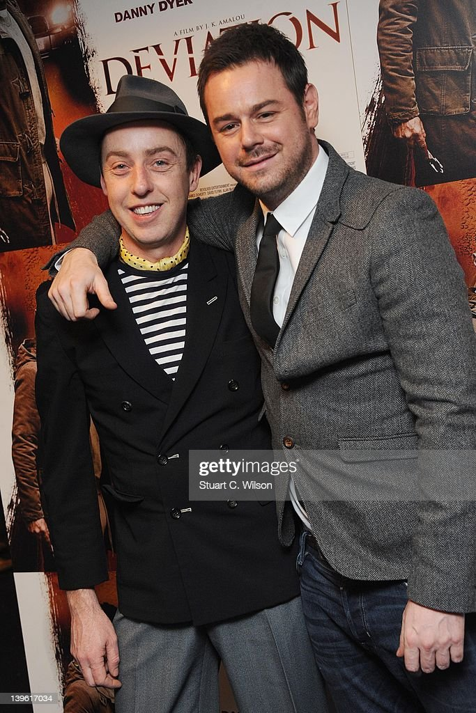 James Brown and Danny Dyer attend the Deviation World Premiere at Odeon Covent Garden on February 23, 2012 in London, England.