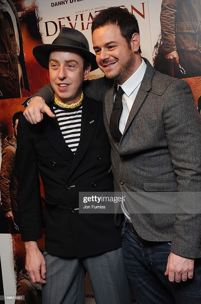 James Brown and Danny Dyer attend the world premiere of 'Deviation' at Odeon Covent Garden on February 23, 2012 in London, England.