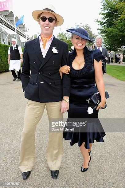 James Brown and Fiona Young attend Ladies Day at Glorious Goodwood held at Goodwood Racecourse on August 2 2012 in Chichester England