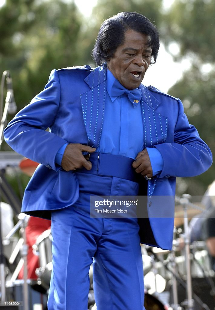 James Brown and his band perform as part of ''FOGG Fest 2006'' Festival of the Golden Gate at Fort Mason Great Meadow on August 20, 2006 in San Francisco, California.