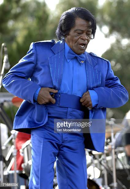 James Brown and his band perform as part of ''FOGG Fest 2006'' Festival of the Golden Gate at Fort Mason Great Meadow on August 20 2006 in San...
