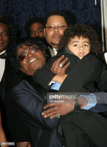 James Brown and son James Jr