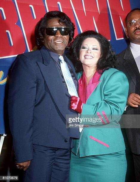 James Brown and wife