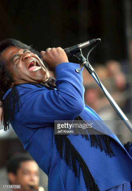 James Brown during 2003 Bonnaroo Music Festival Day Three at Bonnaroo Fairgrounds in Manchester Tennessee United States