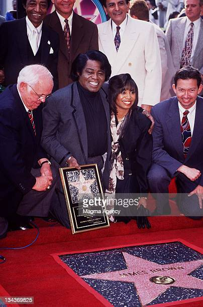 James Brown during James Brown Honored with a Star on the Hollywood Walk of Fame at 1501 Vine St in Hollywood California United States