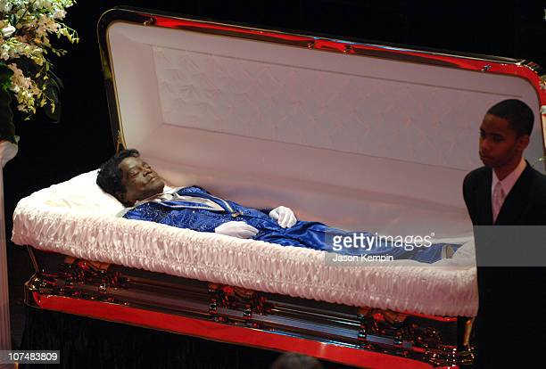 James Brown during James Brown Viewing At The Apollo Theater December 28 2006 at The Apollo Theater in New York City New York United States