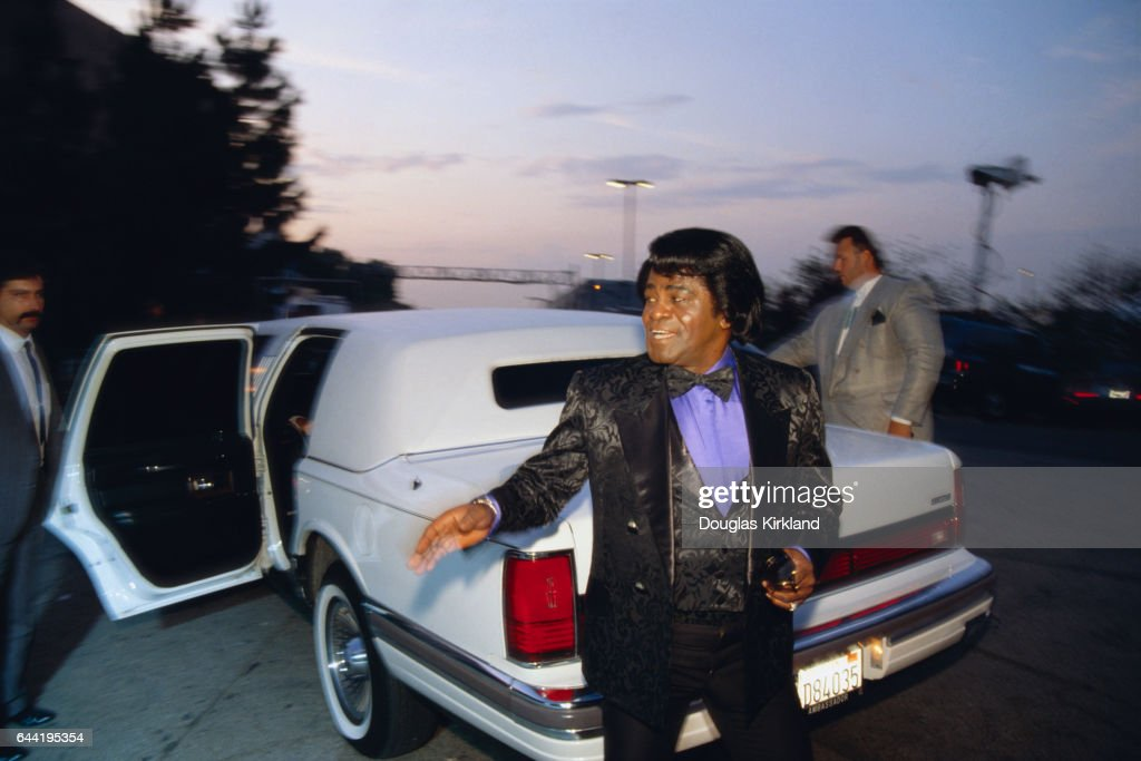 James Brown Exiting a Limousine