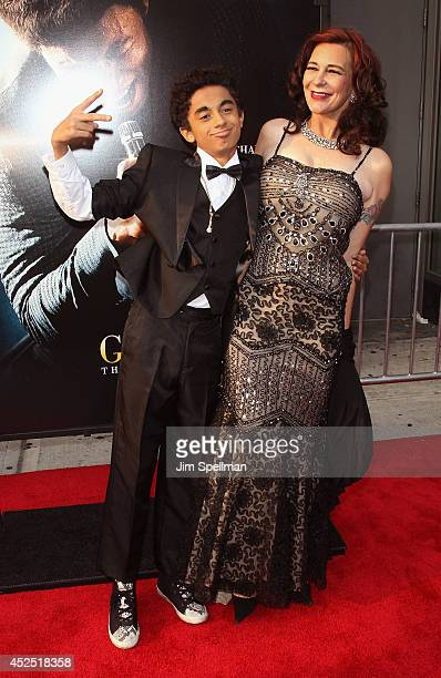 James Brown II and Tomi Rae Brown attend the Get On Up premiere at The Apollo Theater on July 21 2014 in New York City