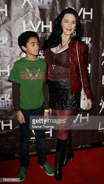 James Brown jr and Tomi Rae Brown attend the Raiding the Rock Vault VIP opening and red carpet at the LVH Hotel Casino on March 18 2013 in Las Vegas...