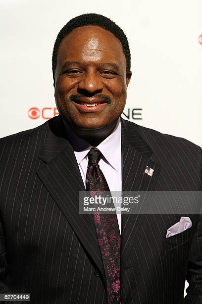 James Brown of 'The NFL Today' attends the grand opening of the CBS Scene Restaurant Bar at Patriot Place on September 6 2008 in Foxboro Massachusetts
