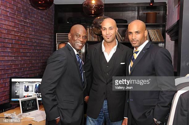 James Brown Patrick Kodjoe and actor/ cofounder of ALFA Boris Kodjoe attend an evening of fun and ALFA luxury custom tailor fashion at South Street...