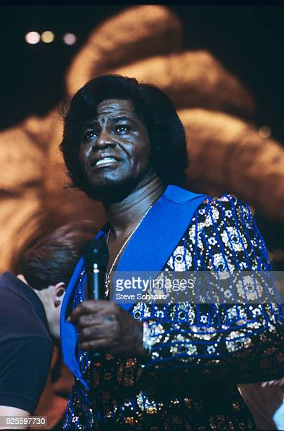 James Brown performing in Rocky IV