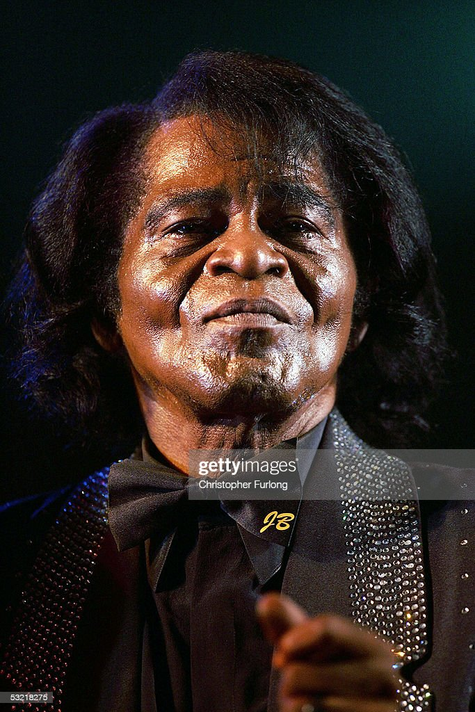 James Brown performs at ?T In The Park 2005? at Balado on July 9, 2005 at Kinross, Scotland.