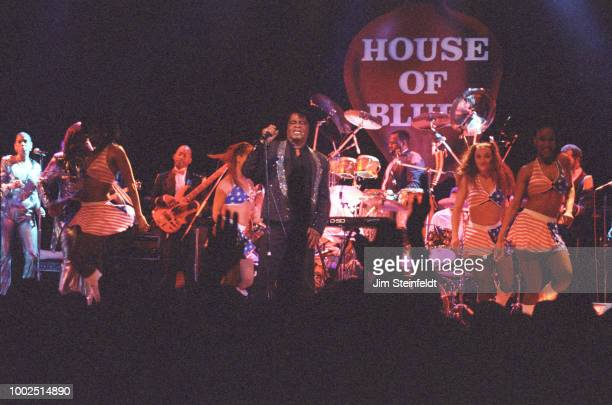 James Brown performs at the House of Blues in Los Angeles California on April 28 1998