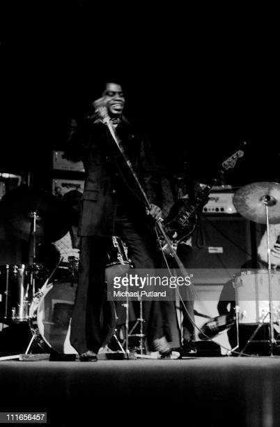 James Brown performs on stage Royal Albert Hall London 11th March 1971