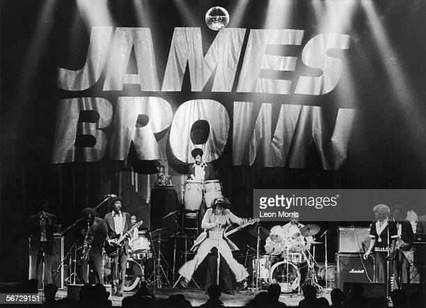 James Brown the 'Godfather of Soul' in concert circa 1985