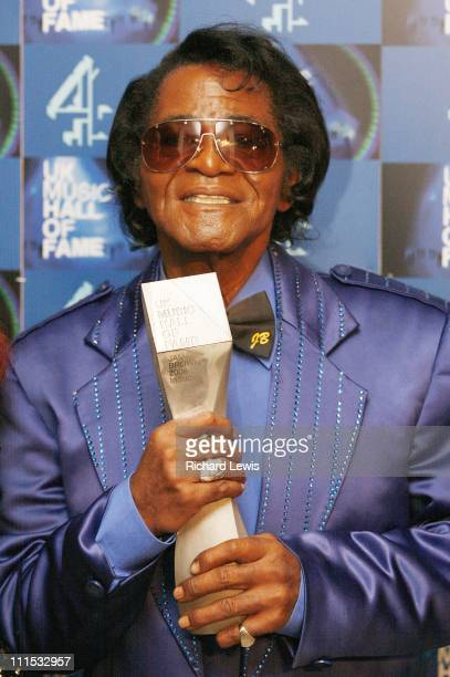 James Brown UK Music Hall of Fame inductee during UK Music Hall Of Fame 2006 Press Room at Alexandra Palace in London Great Britain