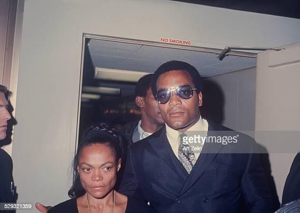 James Brown with Eartha Kitt and security circa 1970 New York