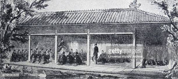 James Bruce 8th Earl of Elgin leads a British delegation to japan in 1858