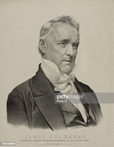 James Buchanan 15th President of the United States of America Lithograph