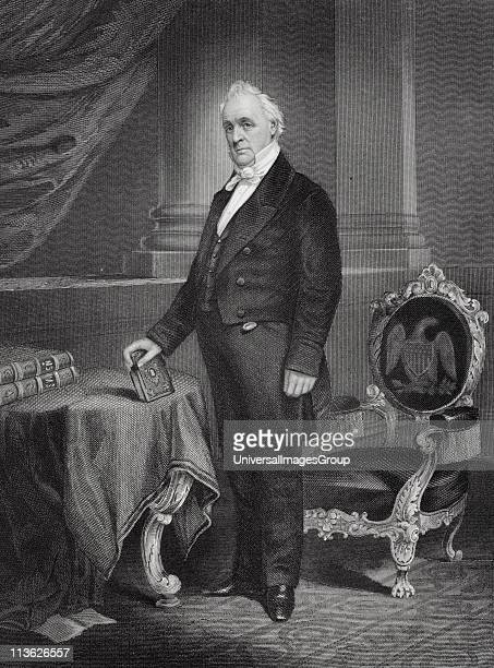 James Buchanan 1791 to 1868 15th President of the United States 1857 to 1861 From painting by Alonzo Chappel