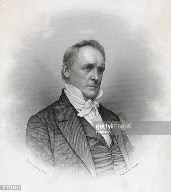 James Buchanan fifteenth President of the United States Undated engraving after a daguerreotype by Mathew Brady BPA2# 3852