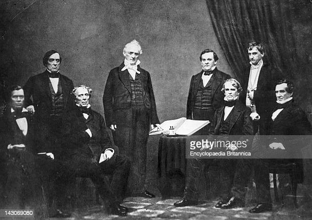 James Buchanan With His Cabinet, President James Buchanan And His Cabinet, 1856.