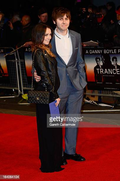 James Buckley and Clair Meek attend the UK Film Premiere of 'Trance' at Odeon West End on March 19 2013 in London England