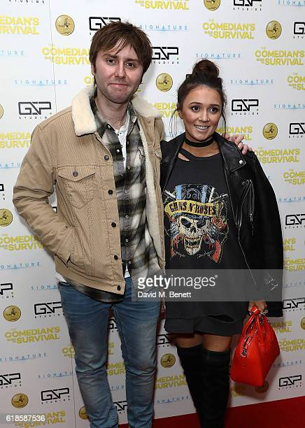 James Buckley and Clair Meek attend the UK Premiere of The Comedian's Guide To Survival at Vue Piccadilly on October 27 2016 in London England