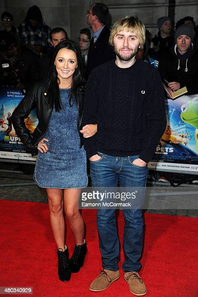 James Buckley and Clair Meek attend the VIP screening of The Muppets Most Wanted at The Curzon Mayfair on March 24 2014 in London England