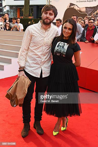 James Buckley and Clair Meek attend the World Premiere David Brent Life On The Road at Odeon Leicester Square on August 10 2016 in London England