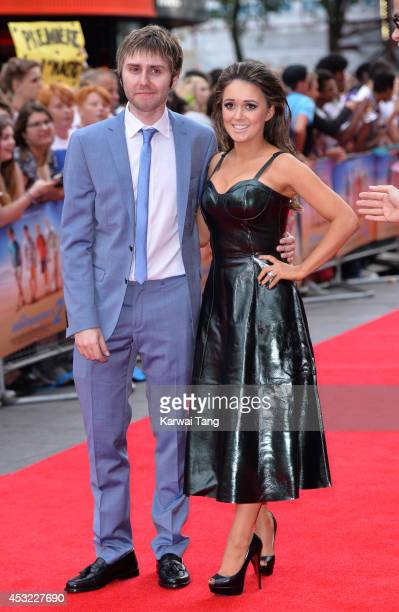 James Buckley and Clair Meek attend the World Premiere of The Inbetweeners 2 at Vue West End on August 5 2014 in London England
