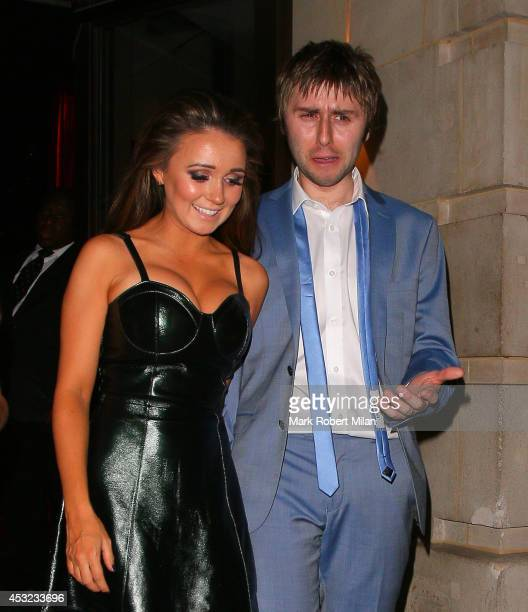 James Buckley and Clair Meek attending the Inbetweeners 2 aftershow party at Aqua on August 5 2014 in London England